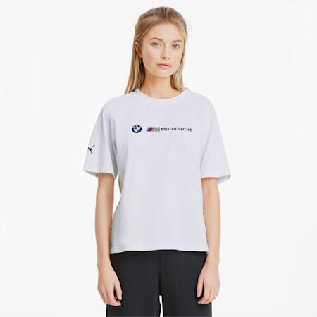 BMW M Motorsport Damen T-Shirt, Puma White, small