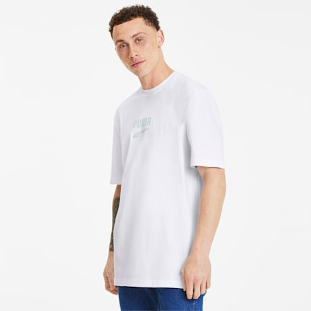 Downtown Men's Tee, Puma White-Mist Green-01, small