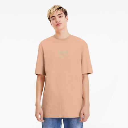 Downtown Men's Tee, Pink Sand, small