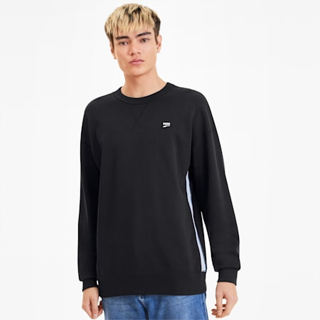 Downtown Crew Men's Sweater, Puma Black, small-SEA