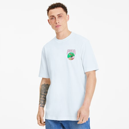 Downtown Men's Graphic Tee, Puma White, small