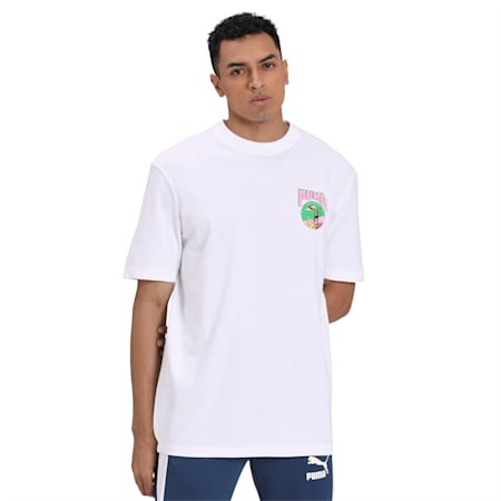 Downtown Graphic T-Shirt, Puma White, small-IND