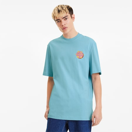 Downtown Men's Graphic Tee, Aquamarine, small-SEA
