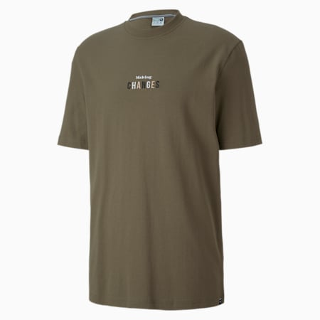 Downtown Men's Graphic Tee, Burnt Olive, small-SEA