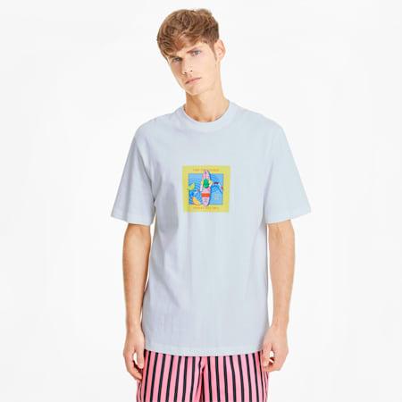 Downtown Graphic T-shirt voor heren, Puma White-Puma White, small