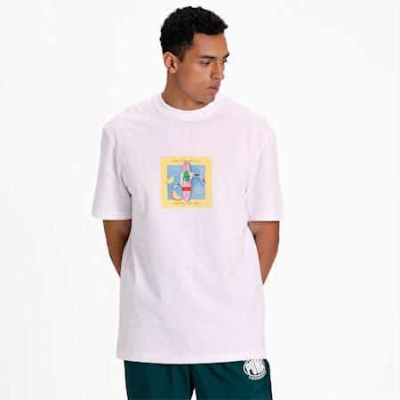 Downtown Graphic T-Shirt, Puma White-Puma White, small-IND