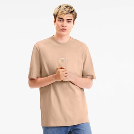 Downtown Men's Graphic Tee, Pink Sand, small-SEA