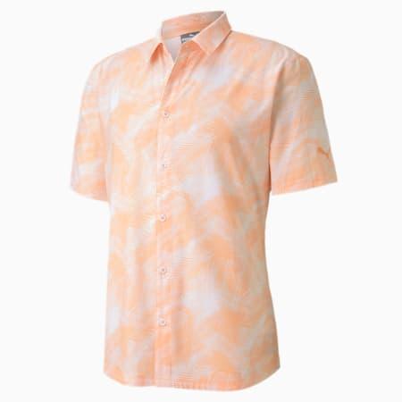 Palms Men's Golf Shirt, Cantaloupe, small-SEA