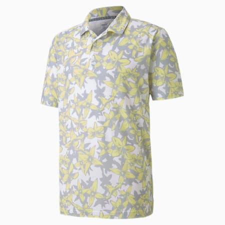 Twelve Men's Golf Polo Shirt, Yellow Iris, small-SEA