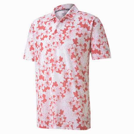 Thirteen Men's Golf Polo Shirt, Rapture Rose, small-SEA