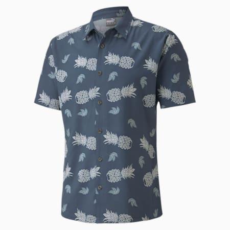 Islands Men's Golf Shirt, Dark Denim, small-SEA