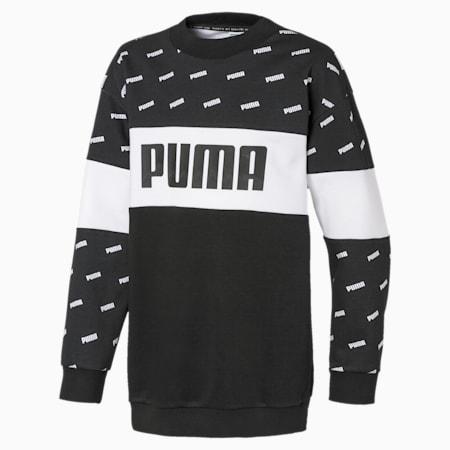Classics Graphics Crew Girls' Sweatshirt, Puma Black, small