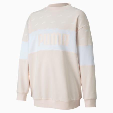 Classics Graphics Crew Girls' Sweatshirt, Rosewater, small
