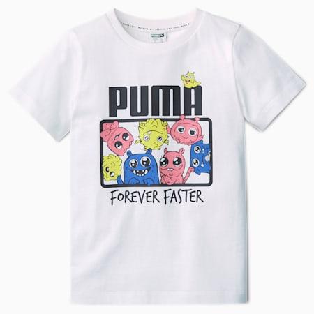 T-shirt Monster para rapariga, Puma White, small