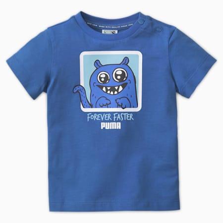 Camiseta Monster para niños, Cobalto brillante, pequeño