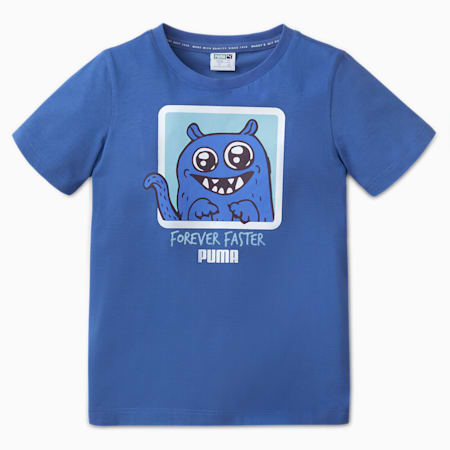 Monster Kids' Tee, Bright Cobalt, small-SEA