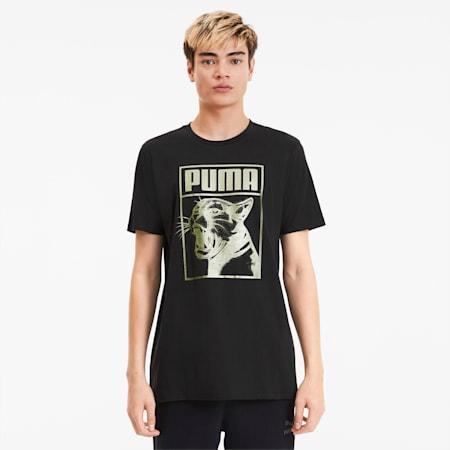 Graphic Box Logo Men's Tee, Puma Black, small-SEA
