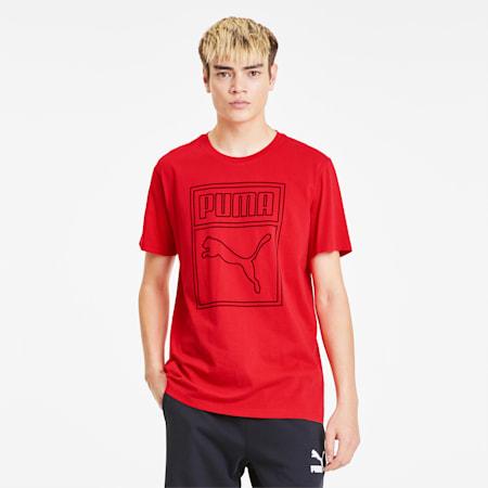 Camiseta con logo estampado Box para hombre, High Risk Red, pequeño