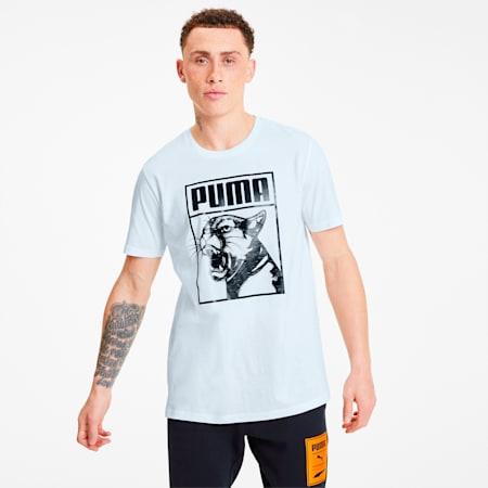 Camiseta con logo estampado Box para hombre, Puma White-puma black, pequeño