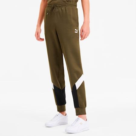 Iconic MCS Men's Track Pants, Dark Olive, small