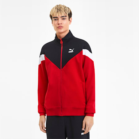 Iconic MCS FT Men's Track Jacket, High Risk Red, small