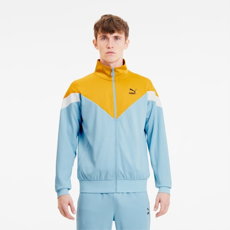 Iconic MCS Summer Men's Track Jacket, Aquamarine, small