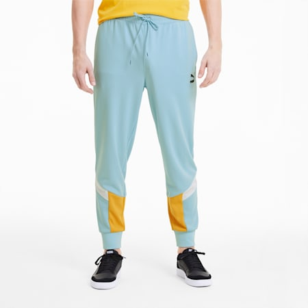 Iconic MCS Summer Men's Track Pants, Aquamarine, small