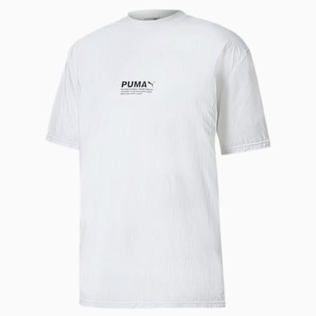 Avenir Crinkle Men's Tee, Puma White, small