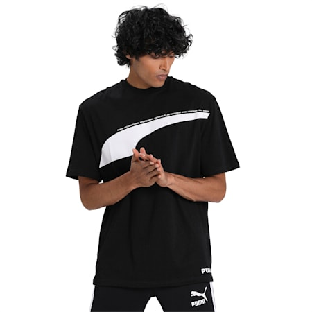 Avenir T-Shirt, Puma Black, small-IND