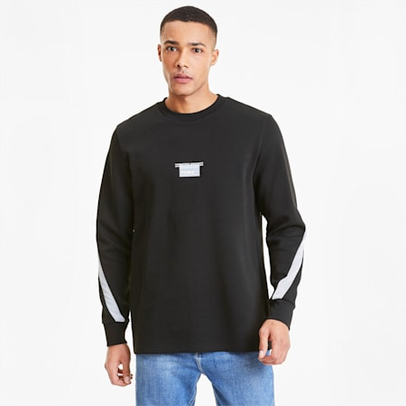 Avenir Men's Crewneck Sweatshirt, Puma Black, small