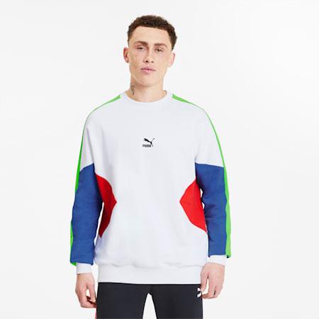 Tailored for Sport Men's Crewneck Sweatshirt, Puma White-Dazzling Blue, small