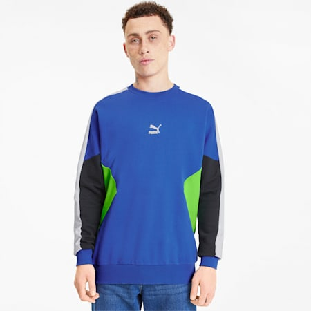 Tailored for Sport Men's Crewneck Sweatshirt, Dazzling Blue, small
