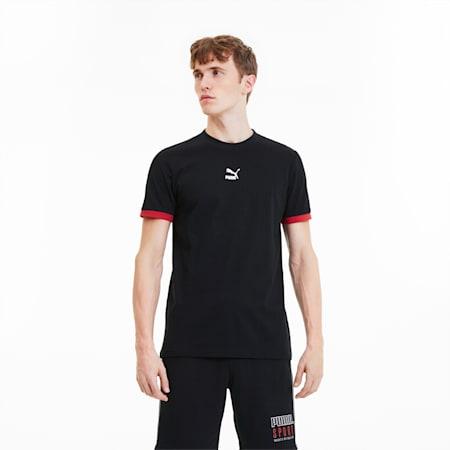 Camiseta Tailored for Sport para hombre, Puma Black-High Risk Red, pequeño