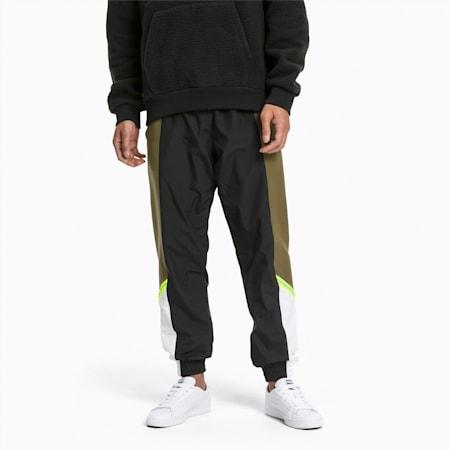 PUMA Tailored for Sport Men's Woven Sweatpants, Dark Olive, small