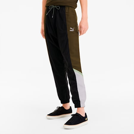 Tailored for Sport Men's Woven Pants, Dark Olive, small
