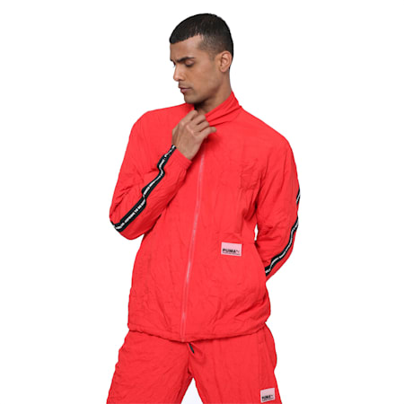 Avenir Woven Men's Track Top, High Risk Red, small-IND