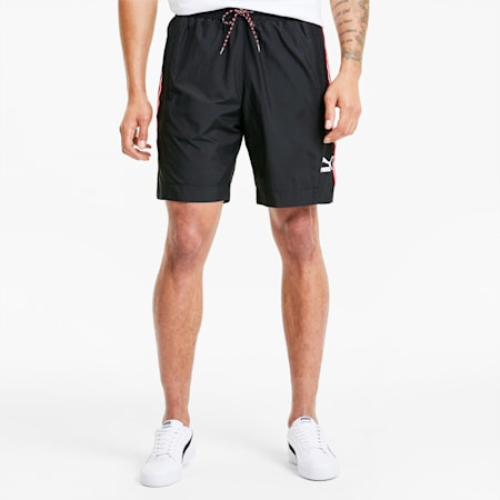 Tailored for Sport Men's Woven Shorts, Puma Black-High Risk Red, small