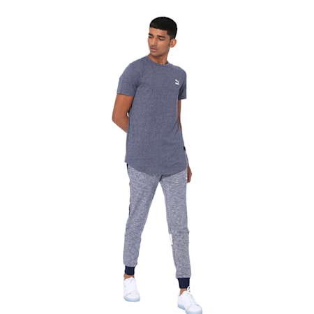 one8 Men's Graphic Tee, Peacoat Heather, small-IND