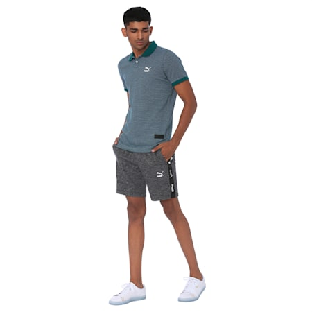 one8 Men's Polo, Teal Green Heather, small-IND