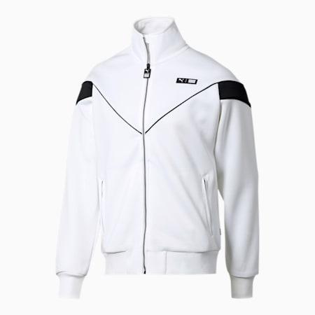 PUMA x TMC Forever Track Jacket, Puma White-Puma Black, small
