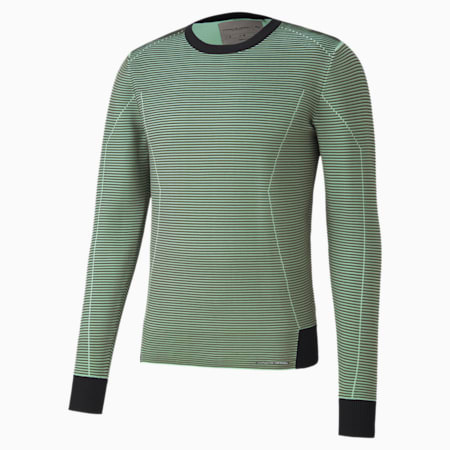 Porsche Design Knitted Long Sleeve Men's Racing Sweater, Jet Black, small