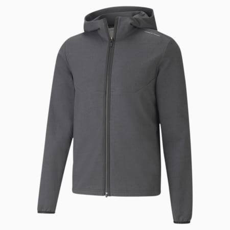 Blouson en sweat avec capuche Porsche Design Classics Racing pour homme, Asphalt Heather, small