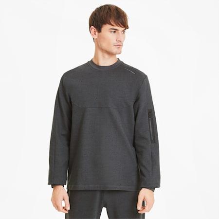 Porsche Design Raglan Long Sleeve Men's Racing Sweater, Asphalt Heather, small