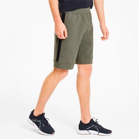 Porsche Design Men's Sweat Shorts, Deep Lichen Green Heather, small