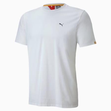 Porsche Legacy Logo Herren T-Shirt, Puma White, small