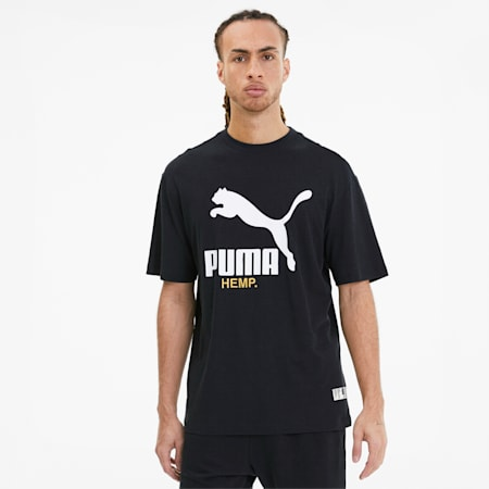 Hemp Men's Tee, Puma Black, small