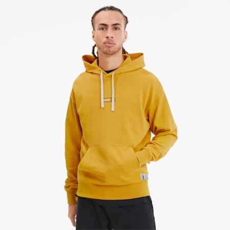 Hemp-hættetrøje til mænd, Golden Rod, small