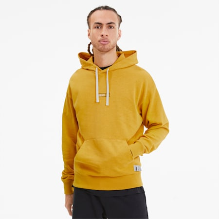 Hemp Men's Hoodie, Golden Rod, small-SEA