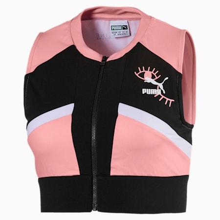 PUMA x MAYBELLINE Women's Crop Top, Powder Pink, small-SEA
