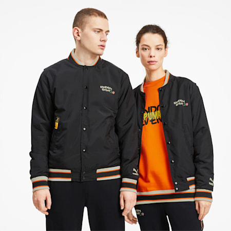 PUMA x RANDOMEVENT Bomber Jacket, Puma Black, small